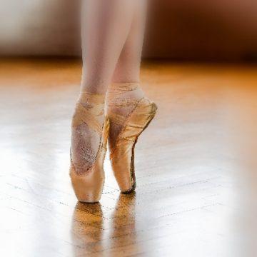バレエでのふくらはぎの痛み。